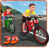Kids Bicycle Rider Street Race icon