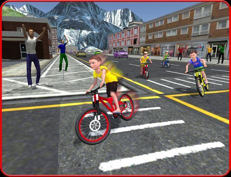 Kids Bicycle Rider Street Race apk screenshot