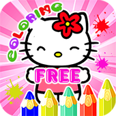 Kids Coloring Book For Kitty Cat icon