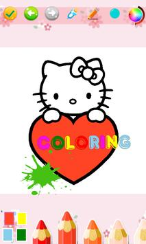 Kids Coloring Book For Kitty Cat poster