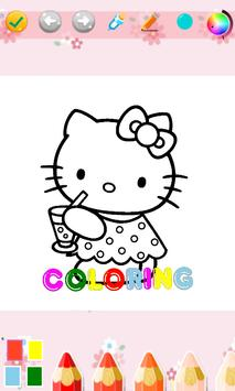 Kids Coloring Book For Kitty Cat screenshot 2