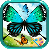 Butterfly - Coloring book icon