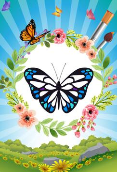 Butterfly - Coloring book poster