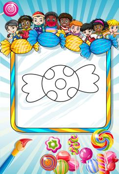 Candy - Coloring book poster