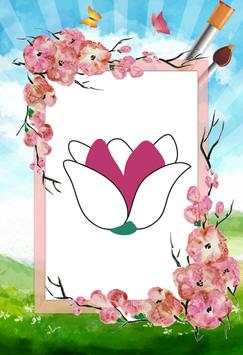 Flower - Coloring poster