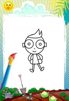Green Kids - Coloring book screenshot 2