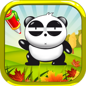 Panda - Coloring book icon