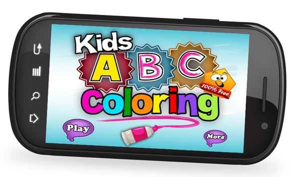 Kids ABC Coloring poster