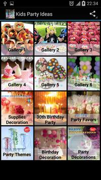 Kids Party Ideas apk screenshot