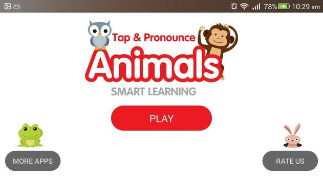 Tap & Pronounce Animals Sounds For Kids poster