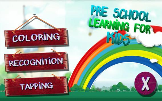 Pre School Learning for Kids poster