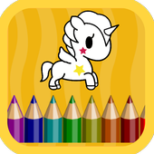 Unicorn coloring book for kids - Kids Game icon