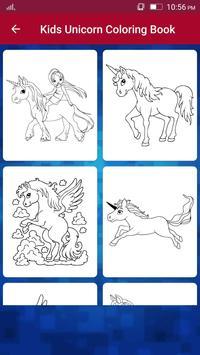 Unicorn coloring book for kids - Kids Game screenshot 2