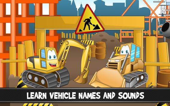 Cars and trucks for kids apk screenshot