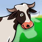 Kids farm animals puzzle icon