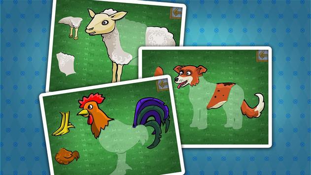 Kids farm animals puzzle screenshot 1