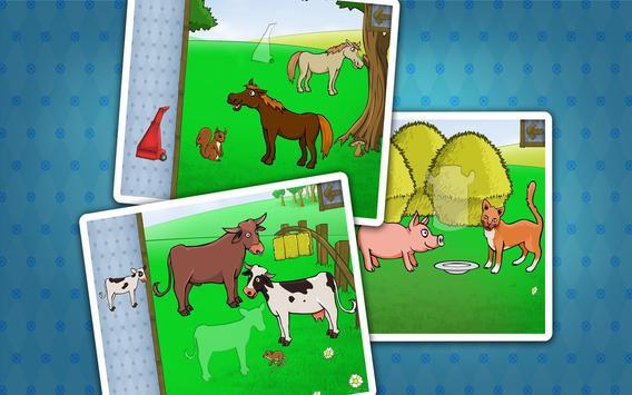 Kids farm animals puzzle screenshot 2