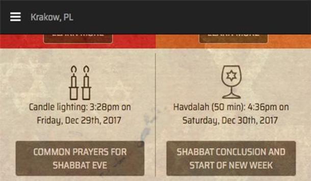 It's Shabbat Time! apk screenshot
