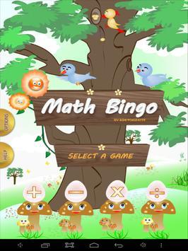 Math Bingo poster