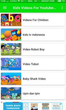 Kids Videos Playlist for YouTube poster