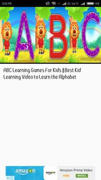 Alphabets and Number VIDEO Learning App for KIDS apk screenshot