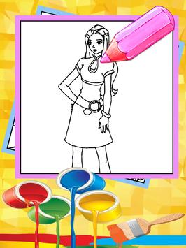 coloring games totally girls spies apk screenshot - Coloring Games For Girls