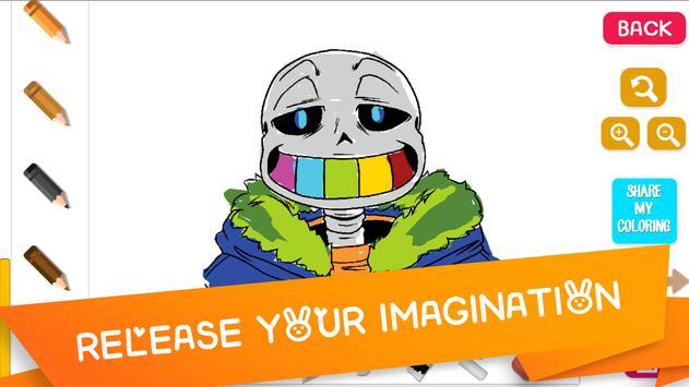 Coloring for Sans Undertale poster