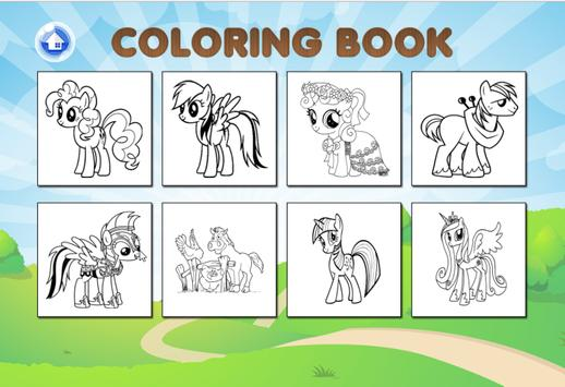Pony Coloring for little kid screenshot 1