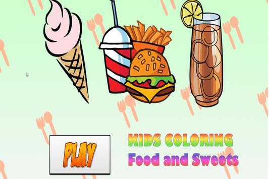 Kids Coloring Food poster