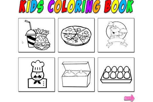 Kids Coloring Food screenshot 1