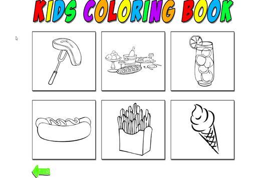 Kids Coloring Food screenshot 2