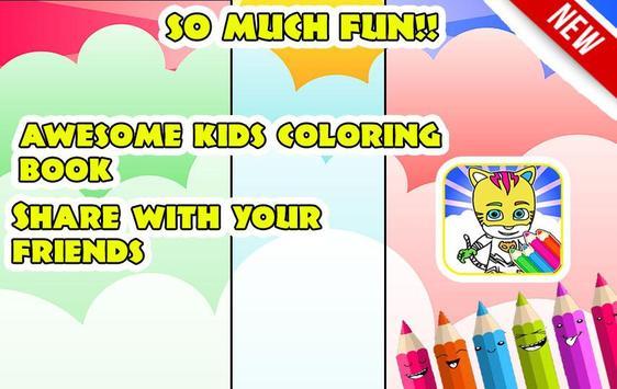 Kid Coloring Guide For Pj Mask Apk Screenshot