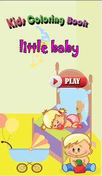 Kids color book little baby poster