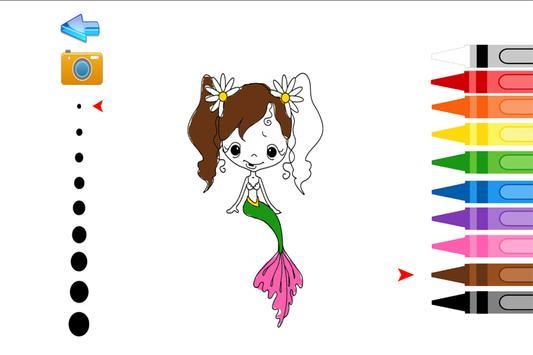 Niños colorear Sirena Descarga APK - Gratis Educativos Juego para ...