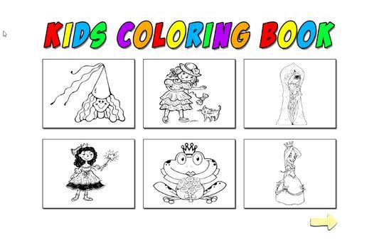 Kids Coloring Princess screenshot 2