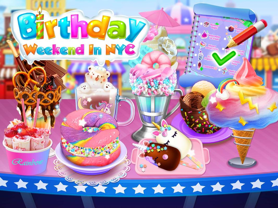 Sweet Trendy Desserts Birthday Cake Foods Poster