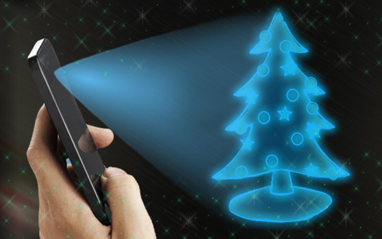 christmas tree hologram prank apk screenshot