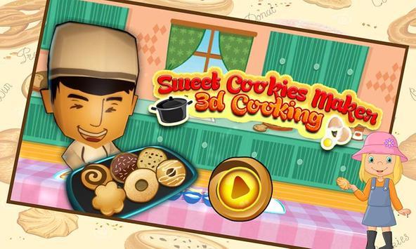 Sweet Cookies Maker 3D cooking poster