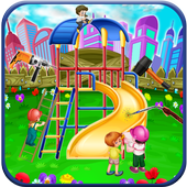 Kids Park Repair: Amusement Playground Builder icon