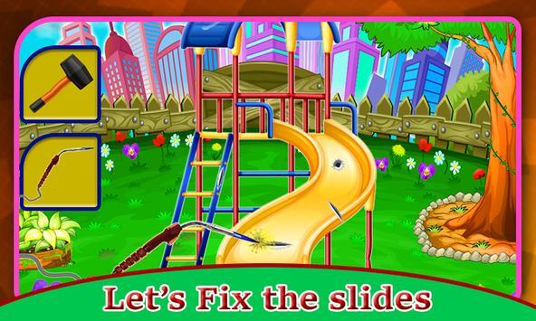 Kids Park Repair: Amusement Playground Builder poster