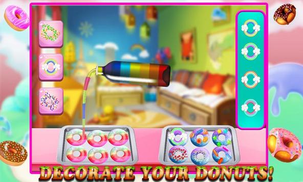Rainbow Donuts Makers - Baking screenshot 1