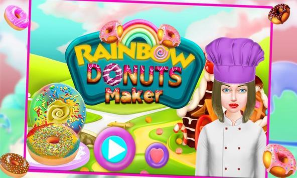 Rainbow Donuts Makers - Baking screenshot 3