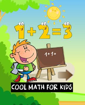 Math for kids games in English poster