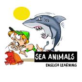 Sea animals english language icon