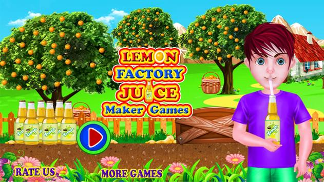 Lemon Factory Juice Maker Games poster