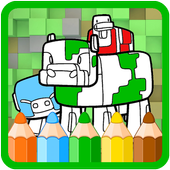 Coloring Books for minecraft icon