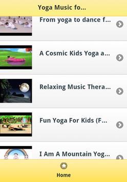 Yoga Music for Kids poster