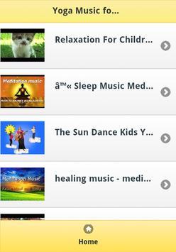 Yoga Music for Kids apk screenshot