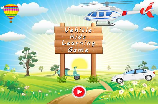 Vehicle Kids Car Learning poster
