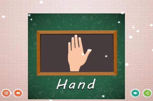 Human Body Parts Kids Learning screenshot 2